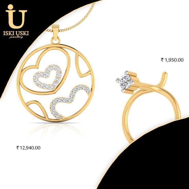 Find great deals on all Gold and Diamond Jewellery!!   #DiamondRings #DiamondPendants #DiamondEarring #DiamondJewellery #indianjewellery #IskiUski
