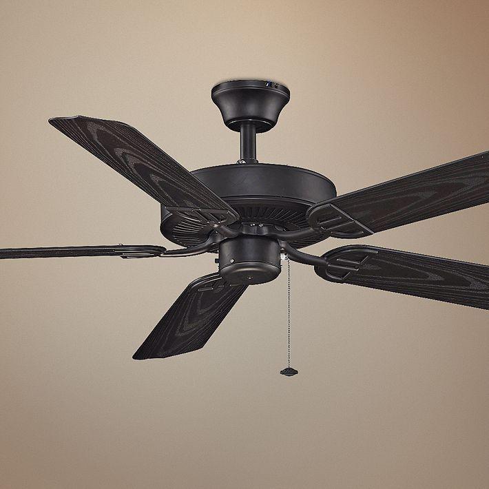 52 Fanimation Aire Decor Black Ceiling Fan With Images Black Ceiling Fan Ceiling Fan Ceiling Fans Without Lights