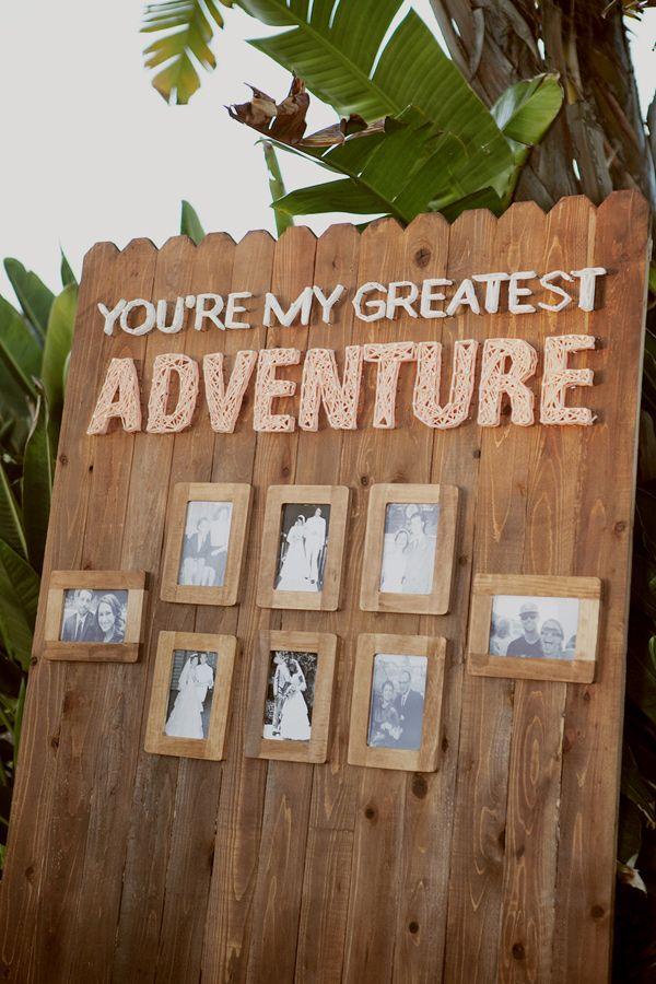 """You're my greatest adventure"" wedding sign with family wedding portraits, photo by Mandilynn Photography http://ruffledblog.com/levyland-estate-wedding #weddingideas #signs"