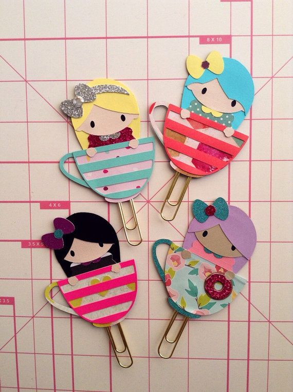 Chibi Planner Clip kawaii clips Bookmark  by KittysGiftsNMore