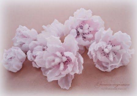 Мастер-класс «Воздушные цветы из кальки»