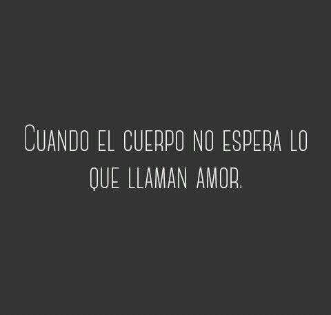 ' Cuando el cuerpo no espera lo que llaman amor ' ~ Gustavo Cerati Canción animal #cerati #cancion #animal #frases #quote #amor
