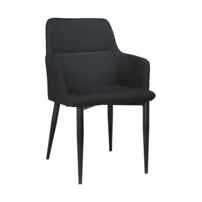 Chaise design en tissus avec accoudoir HENRICK gris foncé - Achat / Vente chaise - Black Friday le 24/11 Cdiscount