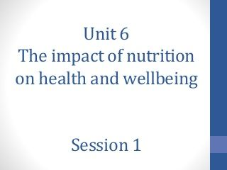 Food, health and wellbeing