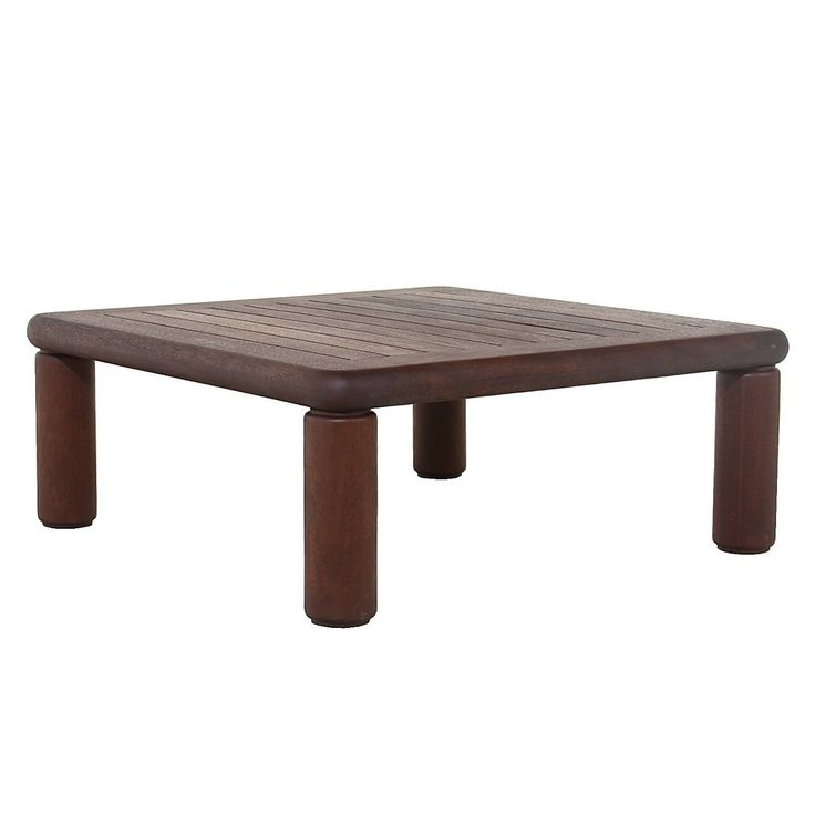 Slatted Solid Honduran Mahogany coffee table by Sherrill Broudy 2