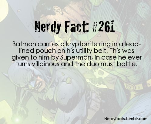 Nerdy Facts #261: kryptonite ring. I've seen Justice League: Doom, and watched every episode of JLA so I kinda knew this, except in neither of those was it an actual ring.