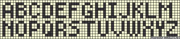 When you've finished the first letter, you can continue with the next. You find suggestions for letters below.  *RULE : If your background is going backwards your brown strings go forward, but If your background strings are going forward Your brown strings will need to go backward.*  Example alphabet letters
