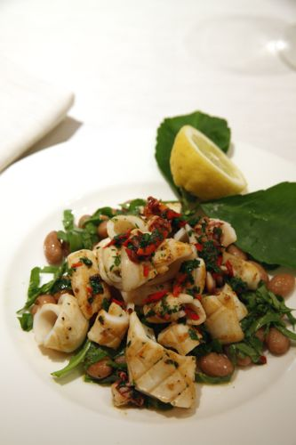 Enjoy Theo Randall's recipe for pan-fried squid with borlotti beans, chilli, anchovy, parsley and chopped for dinner tonight. We promise you'll love it!