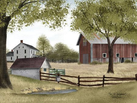 Image detail for -The Old Springhouse by Billy Jacobs - Art Print Framed & Unframed at ...