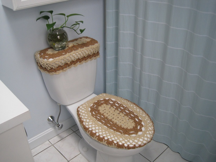Crochet Covers for Toilet Seat & Toilet Tank Lid