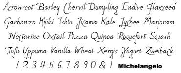 Bowfin Printworks - Script Font Identification - Antique Handwriting - Type Samples