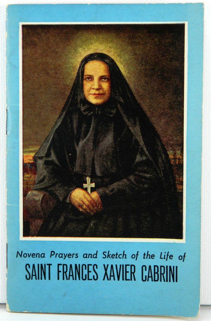 St Frances Xavier Cabrini Novena Prayers and Life Sketch Latin English 21370 by JacksonsMarket on Etsy