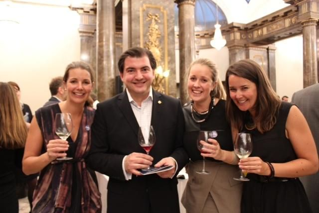 Katherine Brown, wine writer Matthew Jukes, Emma Brown and Caroline Brown at Matthew's annual, prestigious '100 Best Australian Wines 2012' announcement to the media, trade and producers in London.