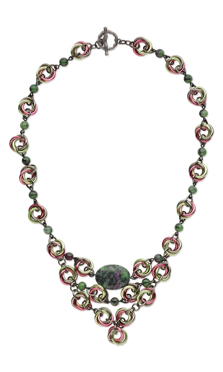 design idea c73y zoisite spirals by designer artist jose crespo fire mountain gems and - Jewelry Design Ideas