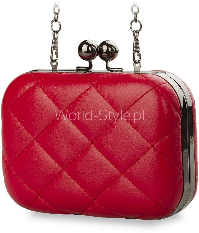 WIECZOROWA TOREBKA KOPERTÓWKA DAMSKA PIKOWANA CHANELKA - CZARNY - Galanteria skórzana - torebki damskie, portfele, teczki, aktówki, torby, saszetki. Sklep World-Style.pl
