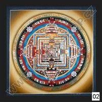Mandala Thanka Kalachakra, 69x69 cm, typ II.