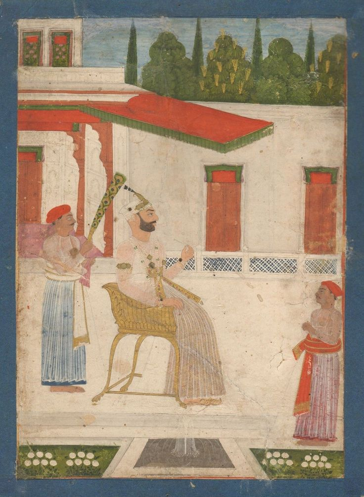 Indian Miniature Painting India Hyderabad Antique Nawab Mughal Deccan 19th   eBay