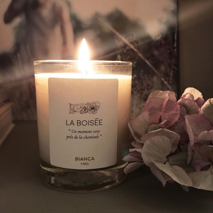 Bougie Parfumée Chic elegante sobre verre transparent cire blanche cire végétale Hortensia Bianca Paris La Boisée