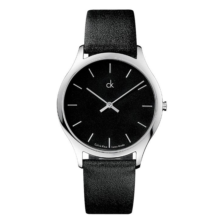 ck classic black watch. so elegant.