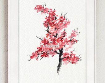 Pittura dell'acquerello di fiore di ciliegio di ColorWatercolor