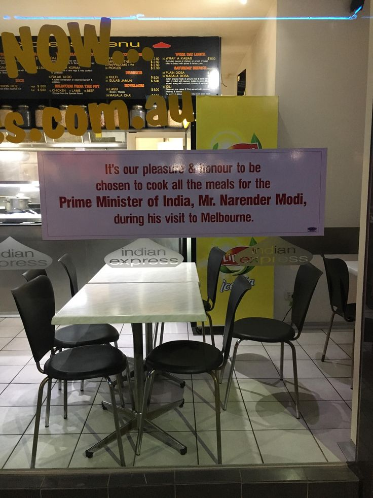 My local Indian restaurant was chosen to cook all the Indian Prime Minister's meals http://ift.tt/2ryAnbe