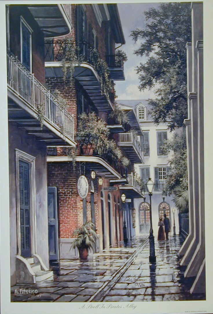 Pirates Alley in New Orleans by- Al Federico | Art ...