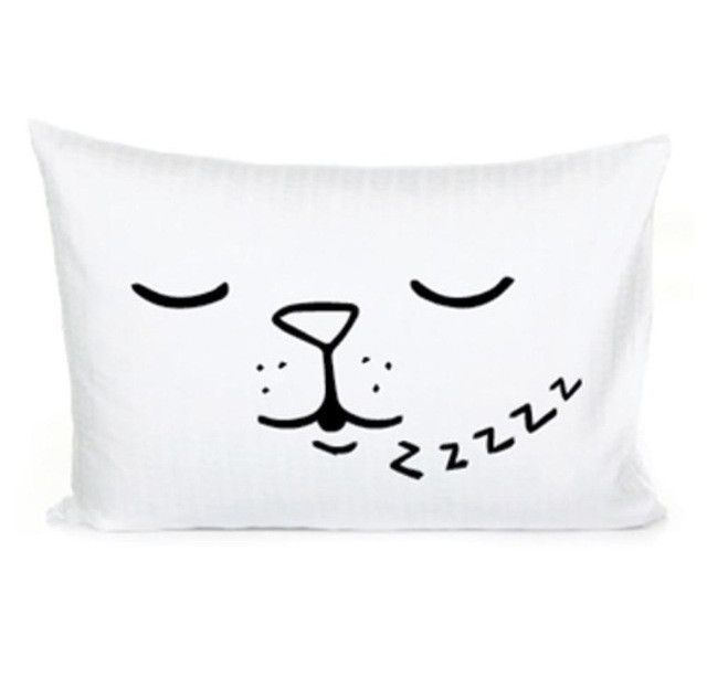 Kids Pillow Cover 45x70cm Cotton Baby Pillow Case Child Boys Girls Cama Bedding Black&White Room Decorative Cushion Pillowcases