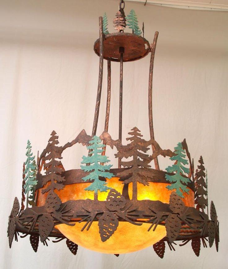 13 best rustic chandeliers images on pinterest chandelier pinecone scene design mozeypictures Gallery
