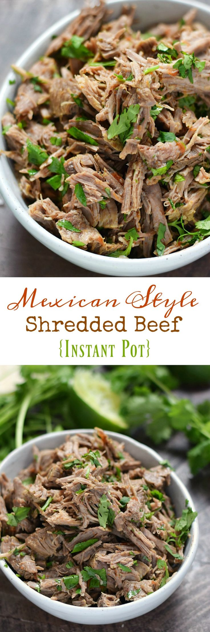 Taco Tuesdays just got more delicious with this easy to make Mexican Style Shredded Beef {Instant Pot} recipe that makes the perfect filling for tacos, burritos, and chimichangas | cookingwithcurls.com