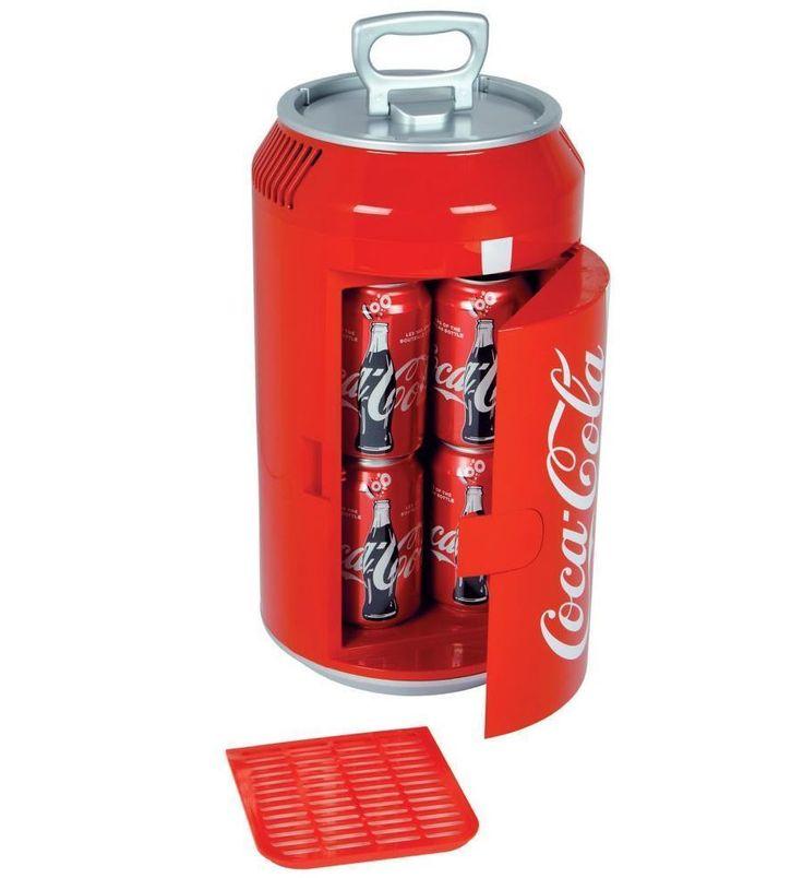 Coca Cola Mini Can Fridge Refrigerator Compact Red Countertop Coke Soda Retro #Unbranded