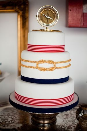 perfect cake, all is it needs is the two little plastic dudes standing next to the compass and maybe an anchor in the center of the rope.