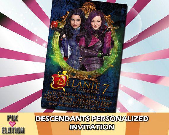 Disney Descendants Invitation Descendants By