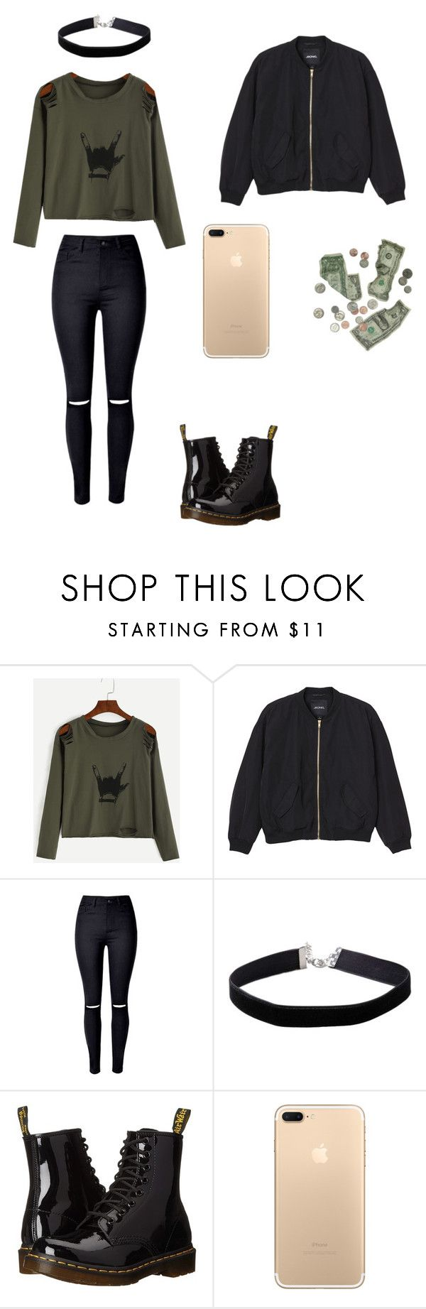 """""""Sans titre #52"""" by naolinewooz on Polyvore featuring mode, Monki, WithChic, Miss Selfridge et Dr. Martens"""