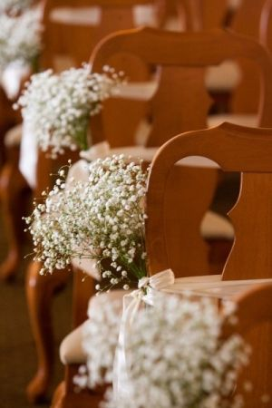 Image detail for -Baby's breath aisle decorations - need nicer buckets for church :)