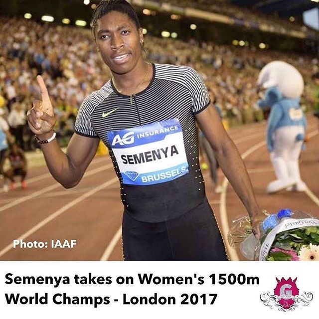 """#GoCaster #Repost @gsport4girls #gsport12 Athlete of the Year Finalist, Caster Semenya has been included in the official start lists of the World Championships 1,500m taking place at 18h35 (SA time) in London today.  The South African running sensation is attempting an 800m/1,500m double at London 2017. She has only run the distance once this year, at the South African University Championships, running 4:16.87, but has a best of 4:01.99 from last year.  Semenya will contend with reigning…"