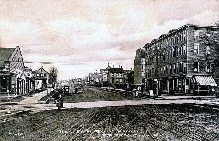 Hudson Boulevard Jersey City N J C 1911 Postcard Jersey City Union City City