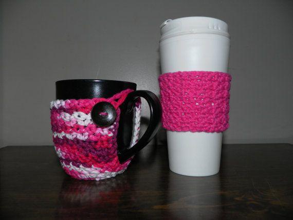 Set of Crochet Cup Cozy, Coffee Cup Cozy, Tea Cup Cozy,Crochet Travel Mug Cozy, Travel Mug Sleeve, Travel Coffee Cup Cozy