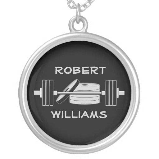 Personalized Sport Athlete Bodybuilding  Necklace