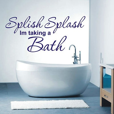 Details about Splish Splash bathroom wall art sticker quote   4 sizes    loads of colours. 1000  images about Bathroom on Pinterest   Bathroom wall art  Wire