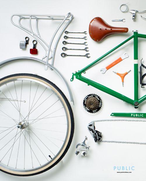 PUBLIC Bike Disassembled