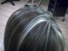 Resultado de imagen para mechas platinadas en cabello oscuro