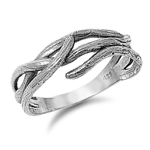 Crown of Thorns Ring Silver 925 with Jewelry Gift Box