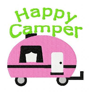 Awesome Retro Camper Machine Embroidery Pattern Design Instant