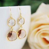 Glass drops earrings from www.earringsnation.com