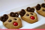 Christmas  Rudolph cookiesChristmas Parties, Reindeer Cookies, Christmas Cookies, Holiday Cookies, Cookies Recipe, Christmas Treats, Cookies Exchange, Six Sisters Stuff, Peanut Butter