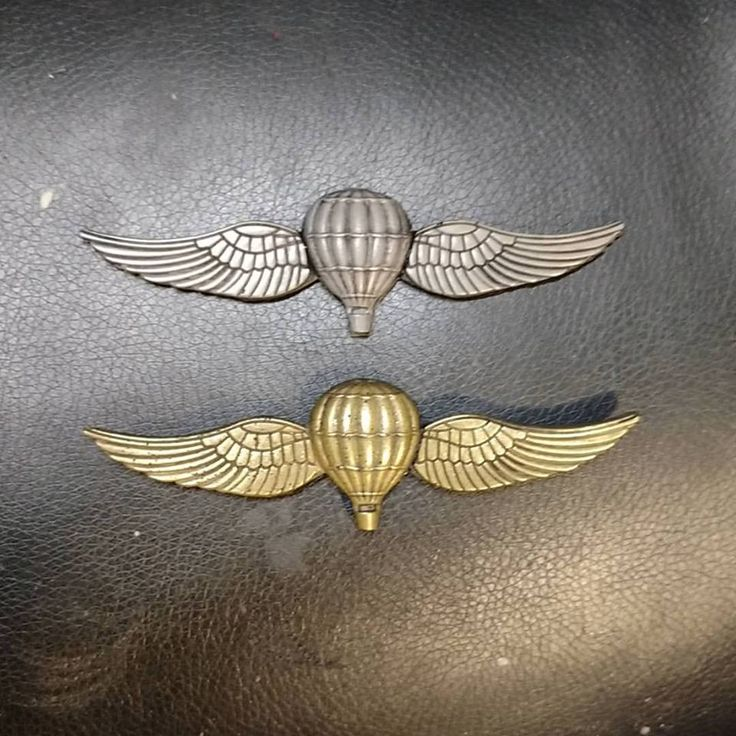 """""""Mold and cold-cast """"Balloon Pilot Wings"""" in Pewter and Bronze. Perfect for the Lighter-Than-Air Aviator"""" by Phantom_Scarecrow on Reddit"""