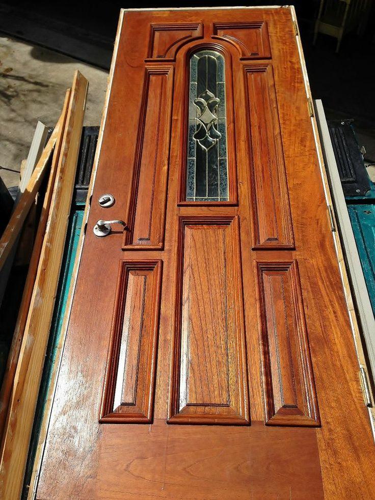 Solid Mahogany Exterior 8ft Single Front Door Left Hand Swing 7525