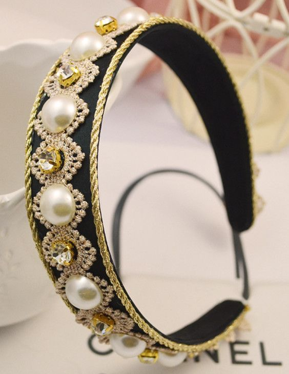 Beads&Lace Decorated Edged Vintage Hair Clasp_Headwear_Accessories_Digbabies