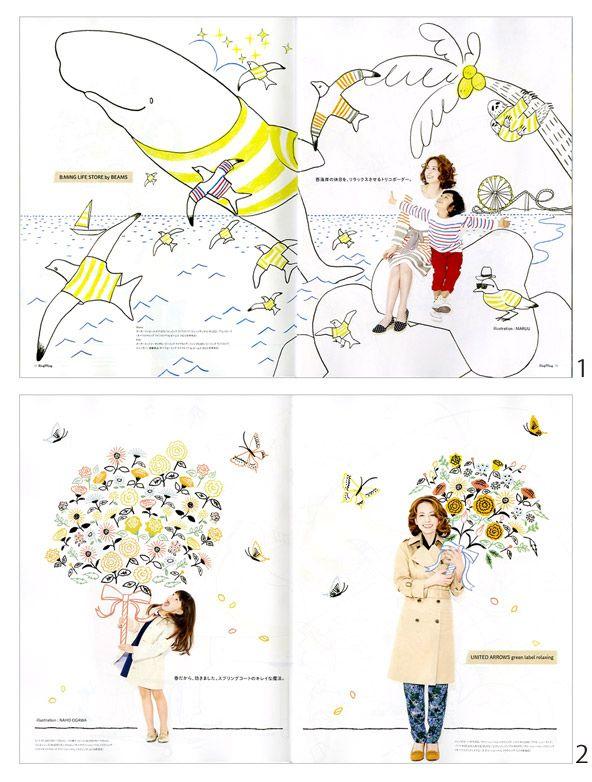 マルー、オガワ ナホ、ミヤギ ユカリ、佐々木 香菜子 × HugMug    Maruu, Naho Ogawa, Yukari Miyagi and Kanako Sasaki x HugMug