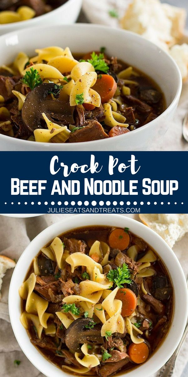 Crock Pot Beef And Noodle Soup Slow Cooker Beef Stew Easy Crockpot Soup Recipes Crockpot Recipes Beef Stew